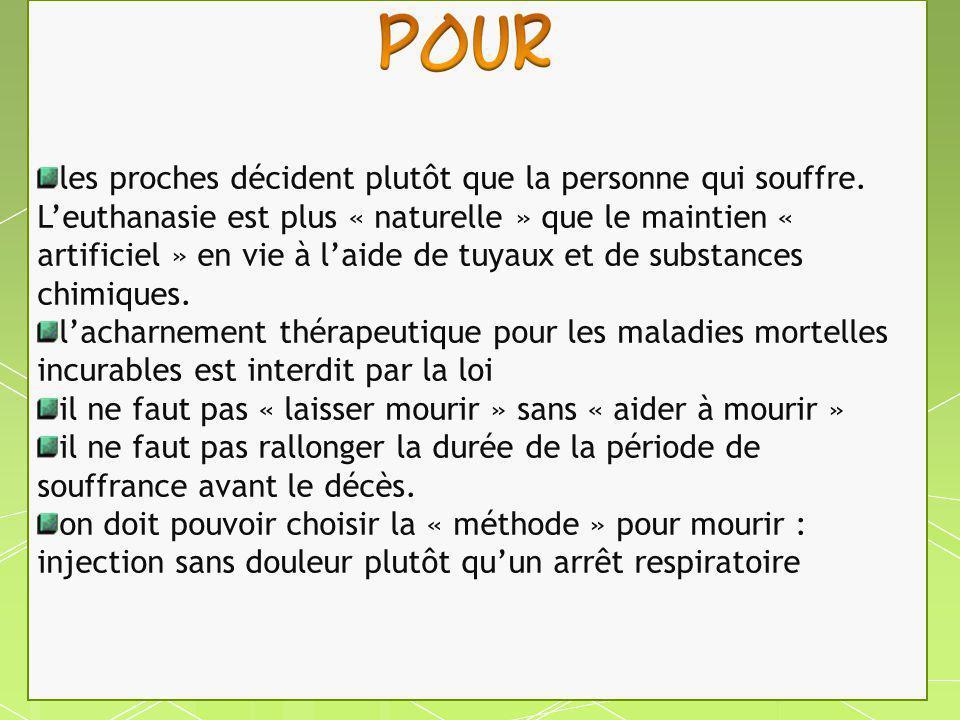 En France, la loi de Bioéthique du 6 août 2004 adopte le principe du consentement présumé : toute personne est considérée consentante au don d éléments de son corps après sa mort, en vue de greffe, si elle n a pas manifesté son opposition de son vivant.