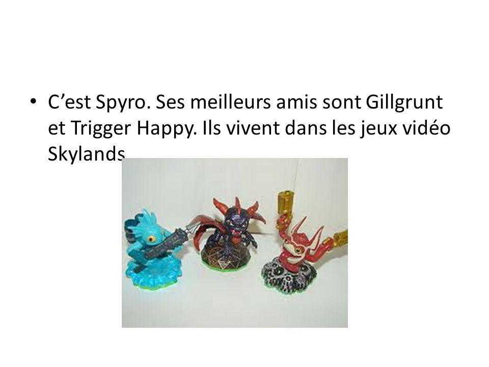 Cest Spyro. Ses meilleurs amis sont Gillgrunt et Trigger Happy.