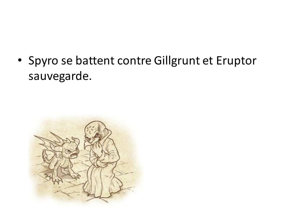 Spyro se battent contre Gillgrunt et Eruptor sauvegarde.