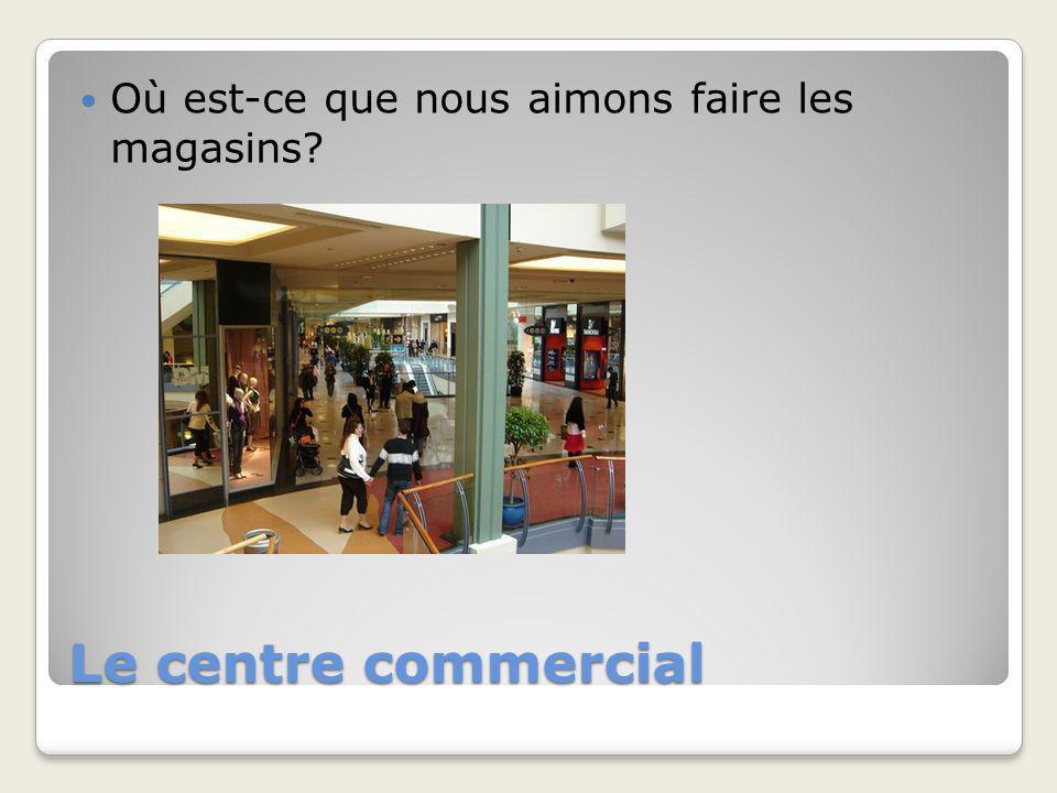 Le centre commercial Où est-ce que nous aimons faire les magasins?