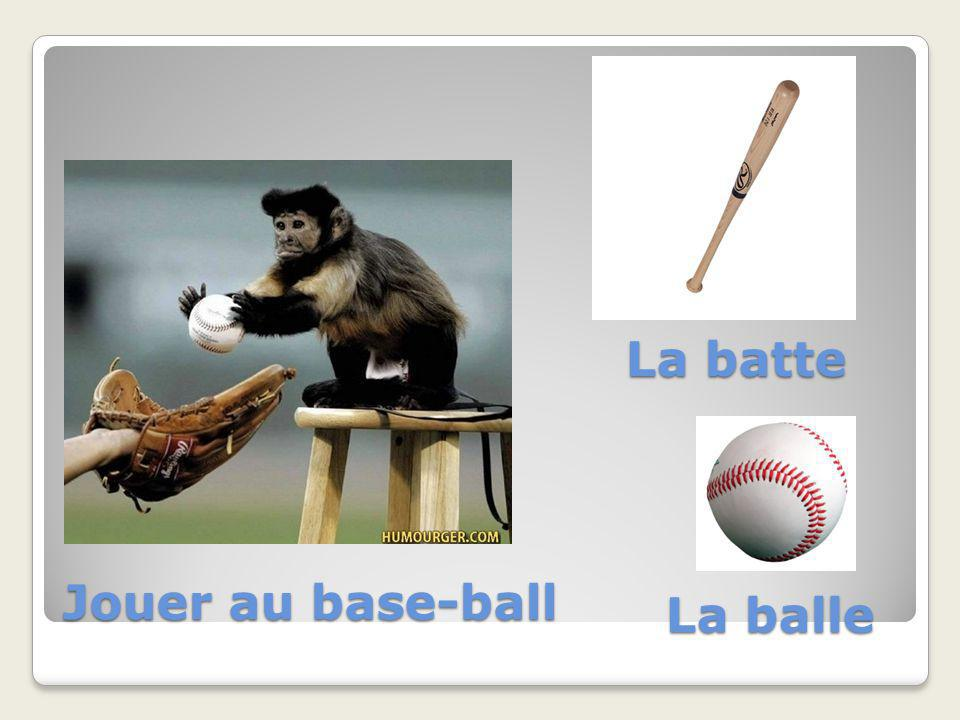 Jouer au base-ball La balle La batte