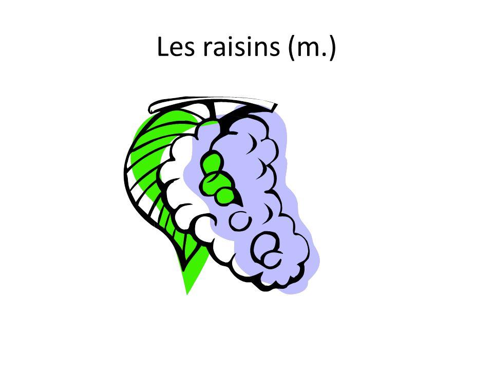 Les raisins (m.)