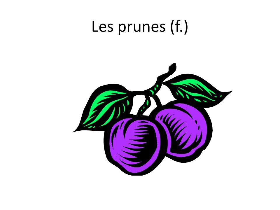 Les prunes (f.)