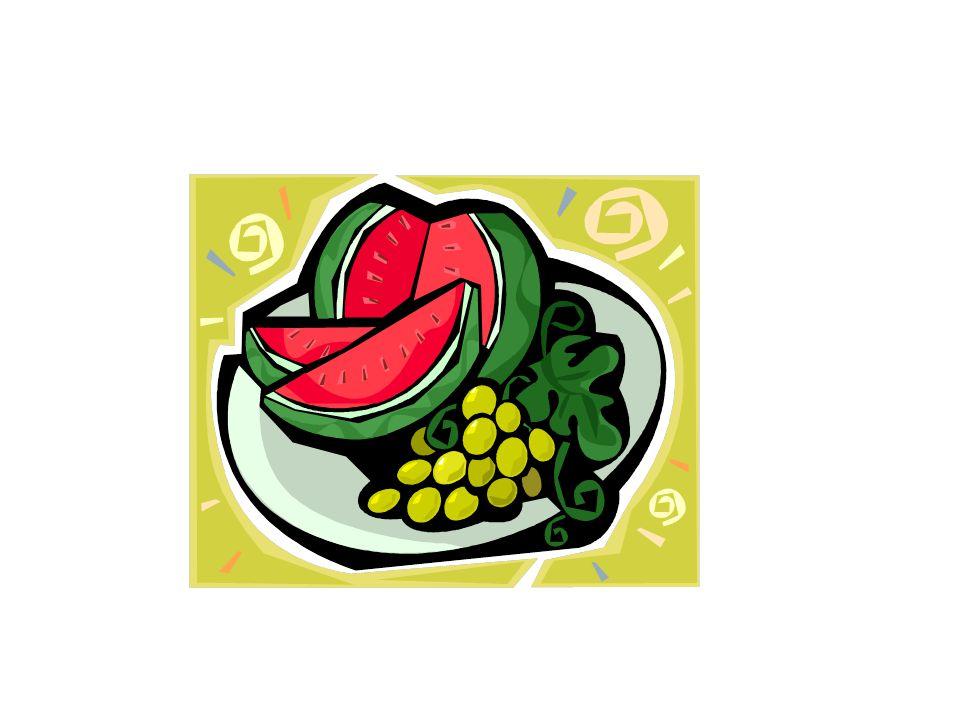 Une pastèque et des raisins
