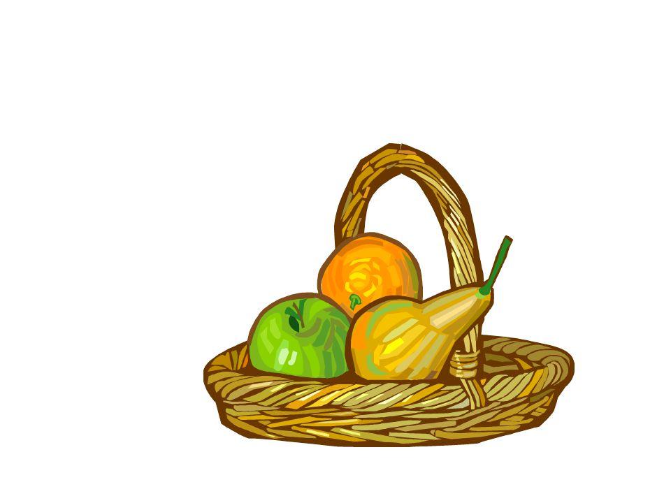 Cest une pomme, une orange, et une poire.