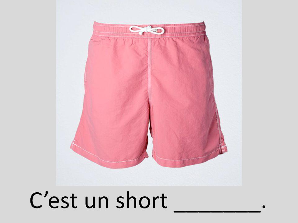 Cest un short _______.