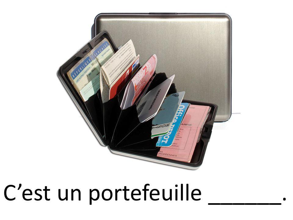 Cest un portefeuille ______.