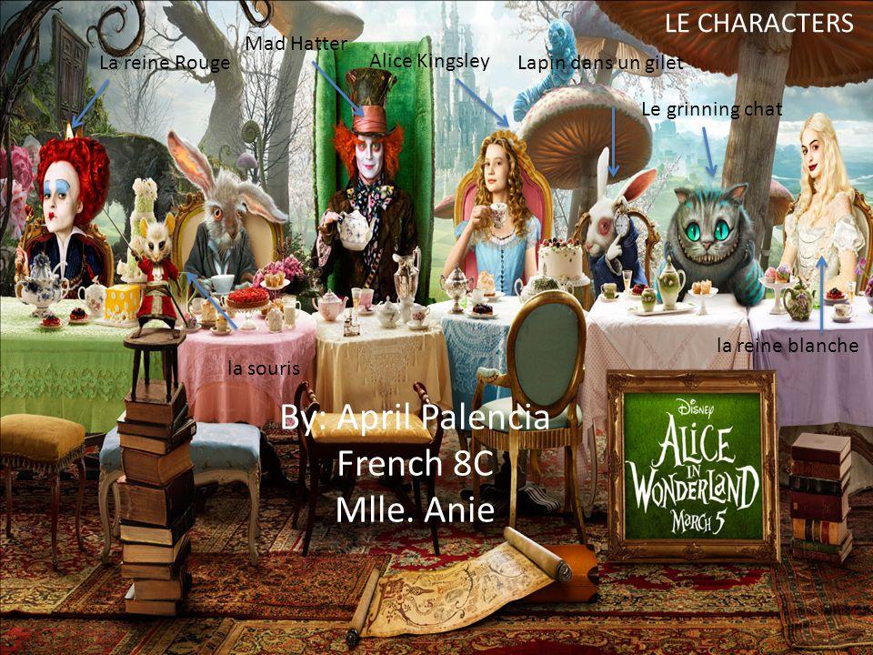 d Alice tombe vers le bas le trou