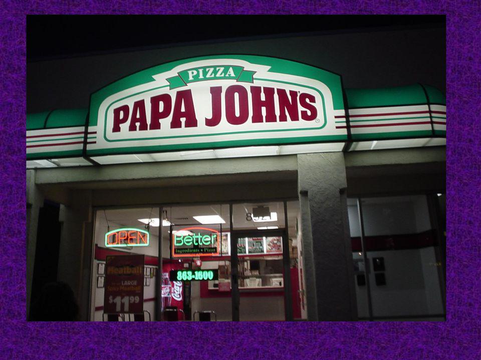 . Laprès midi, nous avons mangé à Papa Johns