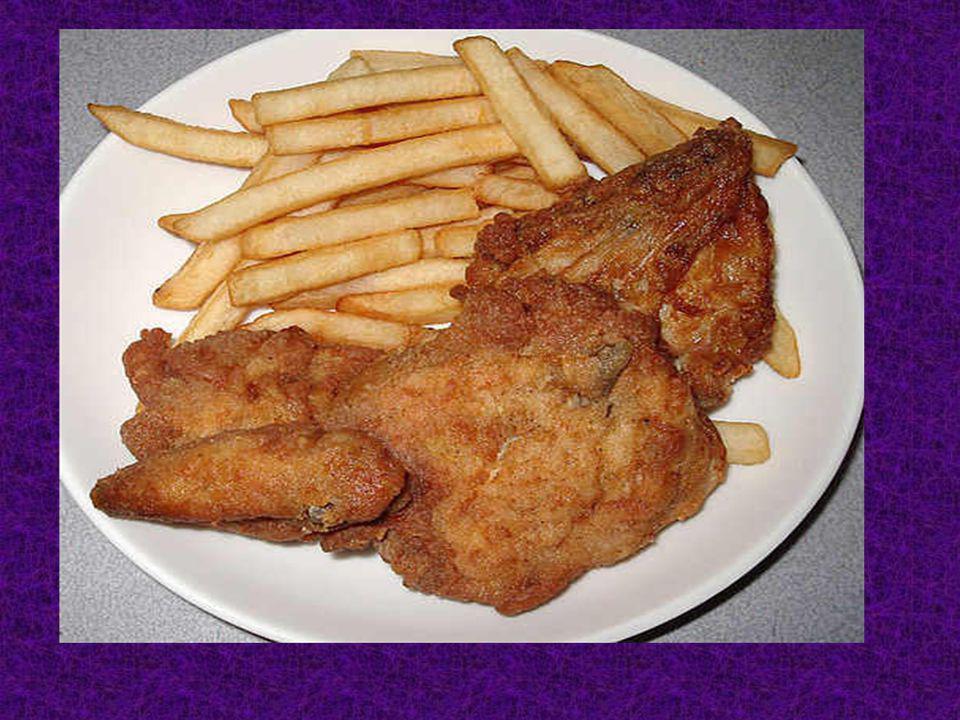 Pour mon dejeuner, J ai mangé du KFC