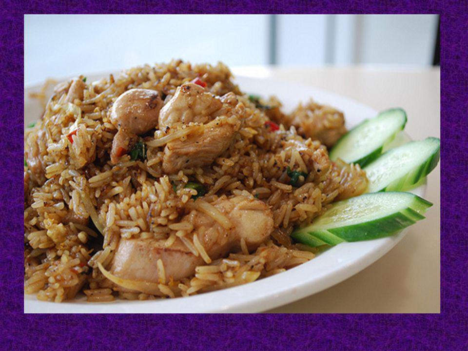 Plus tard, Jai mangé mon diner. Pour mon diner, Jai mangé du riz avec du poulet