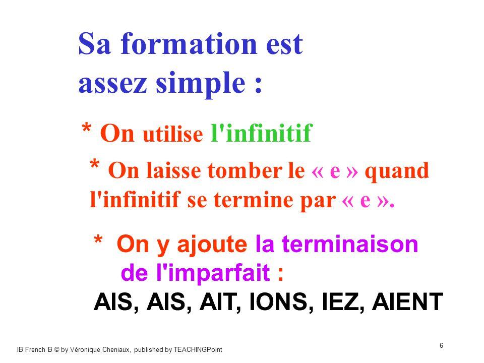 IB French B © by Véronique Cheniaux, published by TEACHINGPoint 7 ex1 : JOUER je jouer + AIS etc.