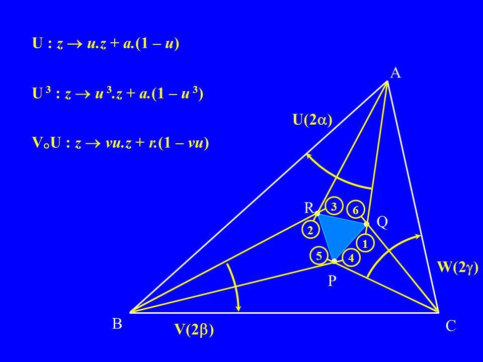 B C P Q R A V(2 ) U(2 ) W(2 ) 2 1 6 5 4 3 U : z u.z + a.(1 – u) U 3 : z u 3.z + a.(1 – u 3 ) V ° U : z vu.z + r.(1 – vu)