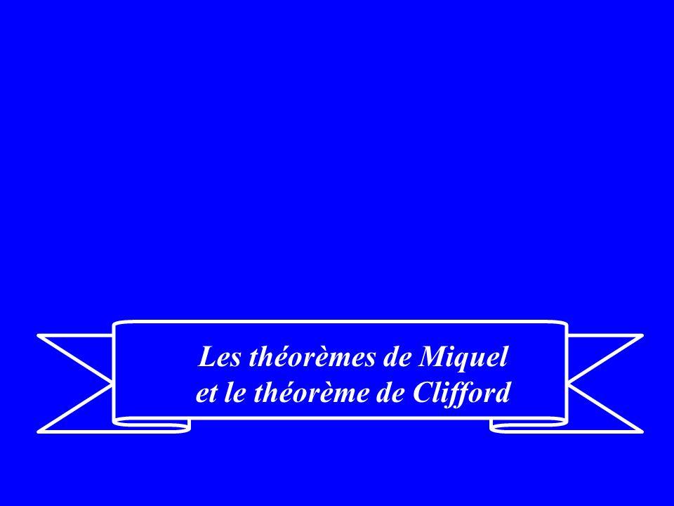 Les théorèmes de Miquel et le théorème de Clifford