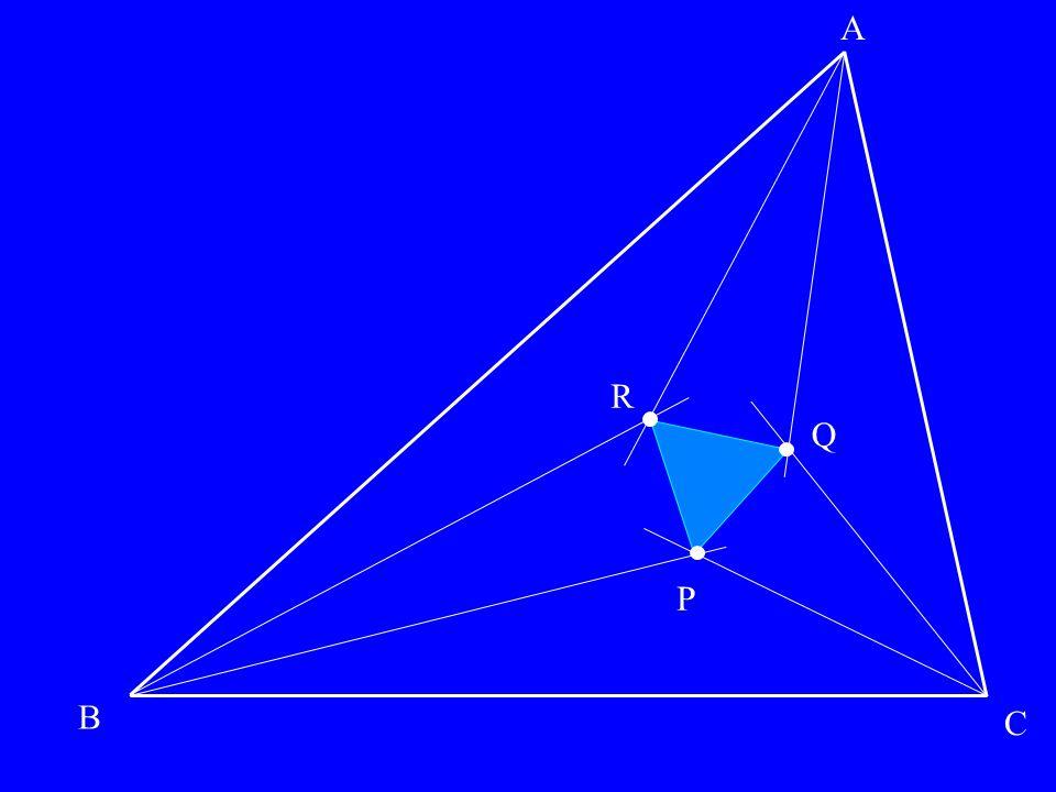 P Q R P Q R A B C les segments rouges font toujours des angles de π/3 SI le résultat est vrai, alors les segments rouges sont concourants… SI le résultat est vrai, alors les angles des triangles isocèles valent …