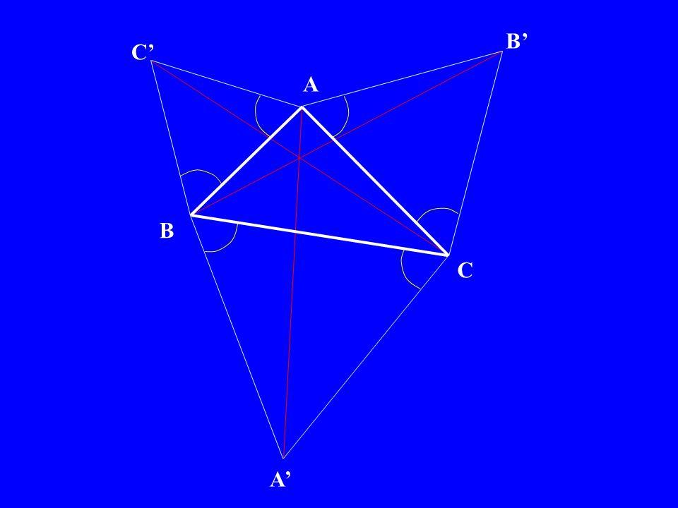 A B C P Q R P Q R π/3 les droites PP, QQ et RR font entre elles des angles de π/3 SI LA CONCLUSION EST VRAIE, alors les droites PP, QQ et RR sont concourantes.