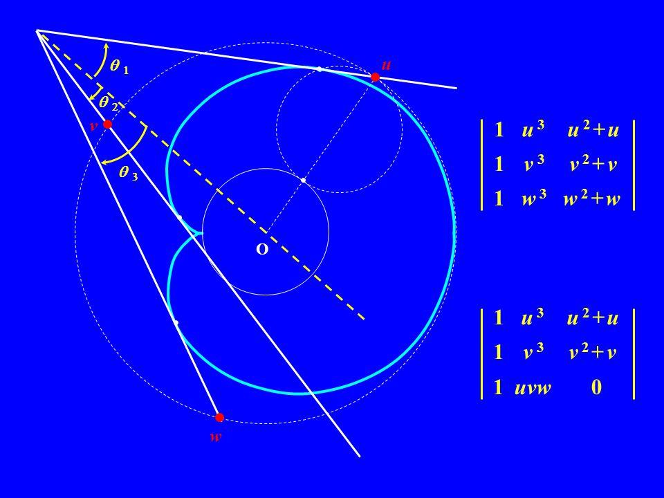 O u v w 1 u 3 u 2 + u 1 v 3 v 2 + v 1 uvw 0 1 u 3 u 2 + u 1 v 3 v 2 + v 1 w 3 w 2 + w