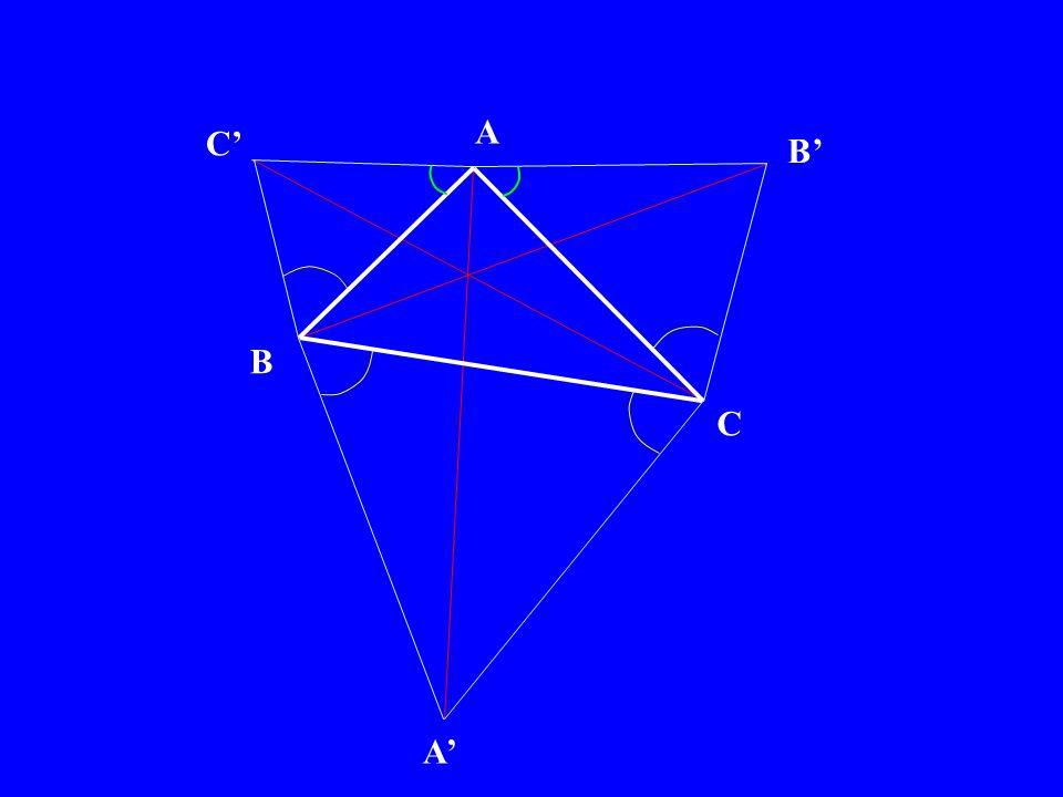 A B C P Q R 2°) il reste à prouver que les segments rouges sont concourants …