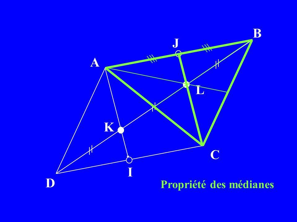 A B C D K L I J Propriété des médianes