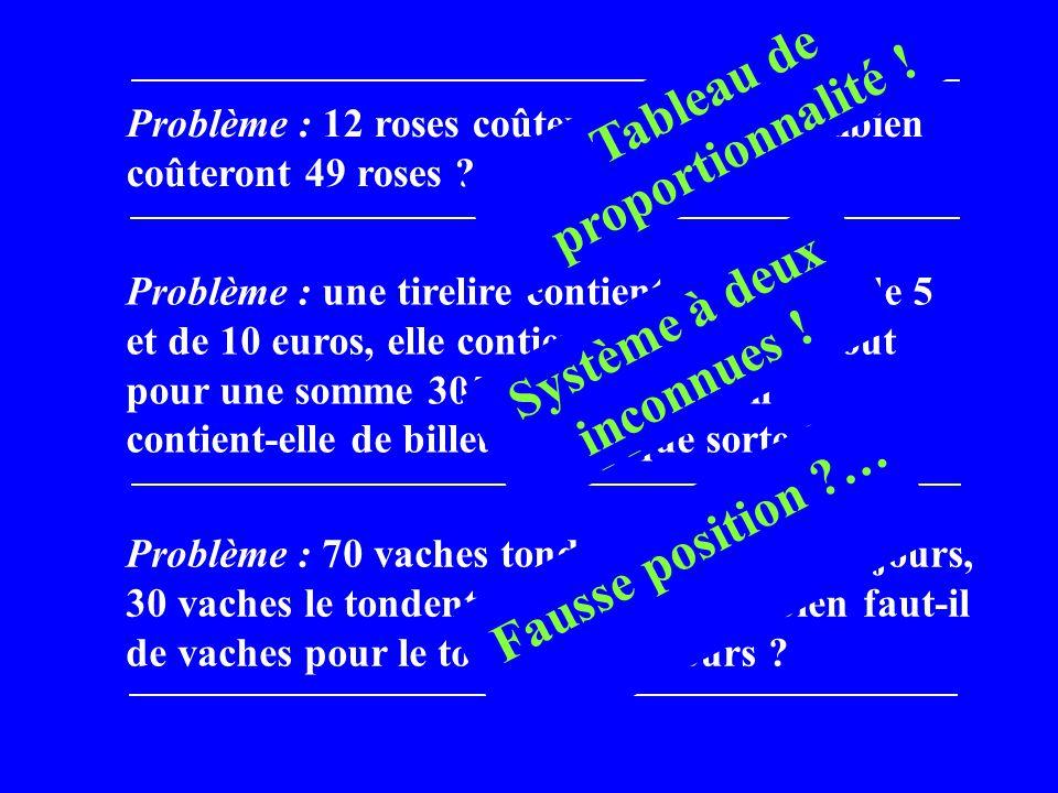 Problème : 12 roses coûtent 28 euros, combien coûteront 49 roses .