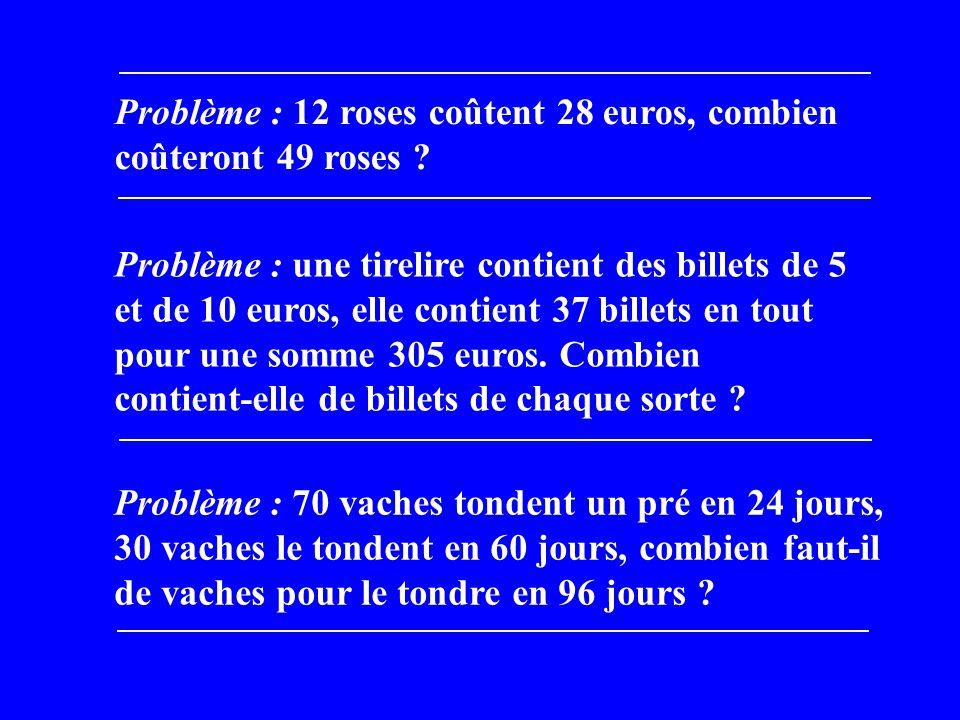 Première méthode : la croix des mélanges 1)Calcul de la densité : 20 l pèsent 20,555 kg 1 l pèse 20,555 : 20 = 1,02775 kg 2) Calcul de la proportion deau : 1 1,02775 1,03 0,00225 0,02775 225 2775 pour 37 3 pour 3) Conclusion : 3 parts pour 40 de mélange… : 1,5 l deau