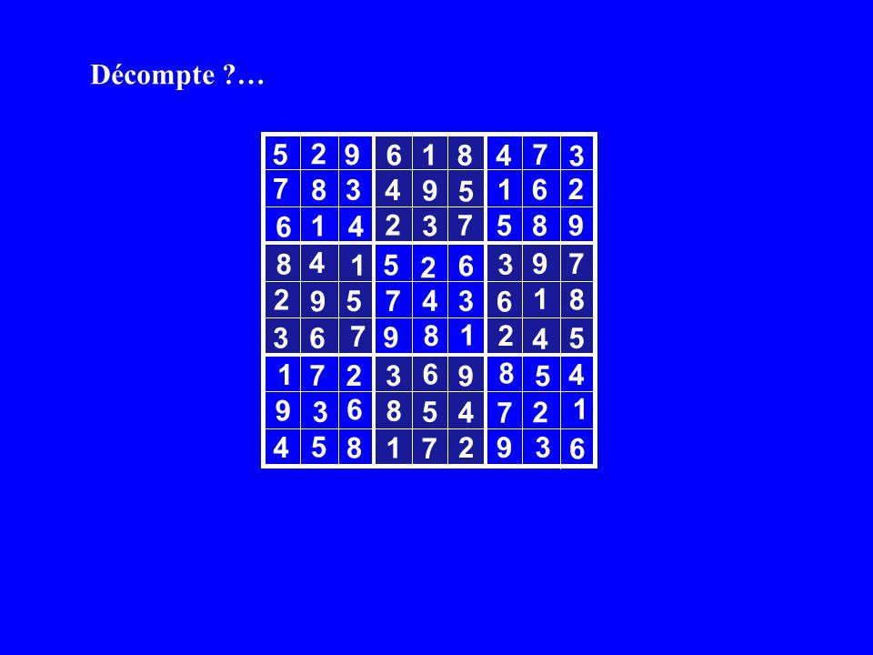 Décompte … 3 5 8 4 3 4 2 7 5 8 4 9 7 5 6 3 6 4 7 2 3 9 4 7 8 1 6 4 4 4 4 5 7 9 3 1 1 8 2 1 8 5 1 1 6 6 6 9 1 8 8 6 7 7 6 7 7 6 9 2 2 3 3 5 2 2 9 9 5 8 8 5 5 2 9 2 1 1 3 3 9