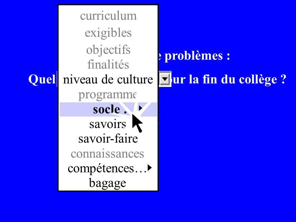 Résolution de problèmes : Quel niveau de culture pour la fin du collège .