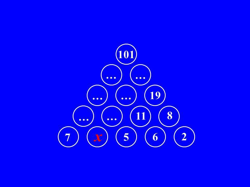 7 x 5 6 2 … … 11 8 … … 19 … … 101
