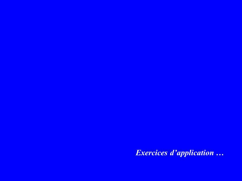 Exercices dapplication …