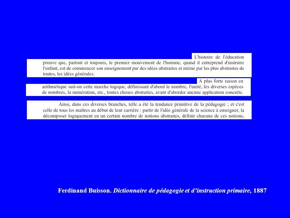 Ferdinand Buisson. Dictionnaire de pédagogie et dinstruction primaire, 1887