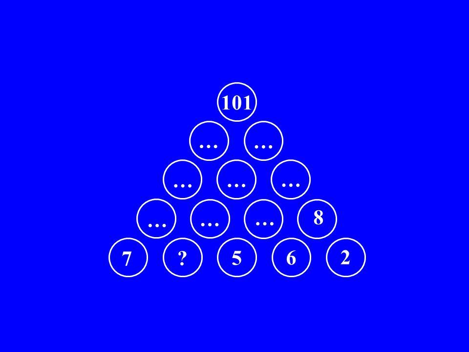 7 ? 5 6 2 … … … 8 … … … … … 101