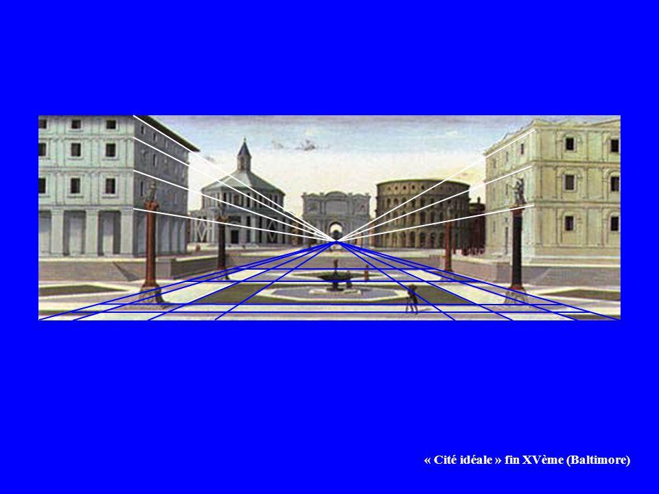 « Cité idéale » fin XVème (Baltimore)