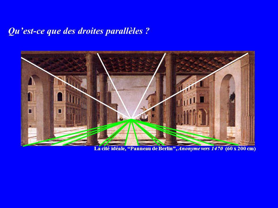 Quest-ce que des droites parallèles .
