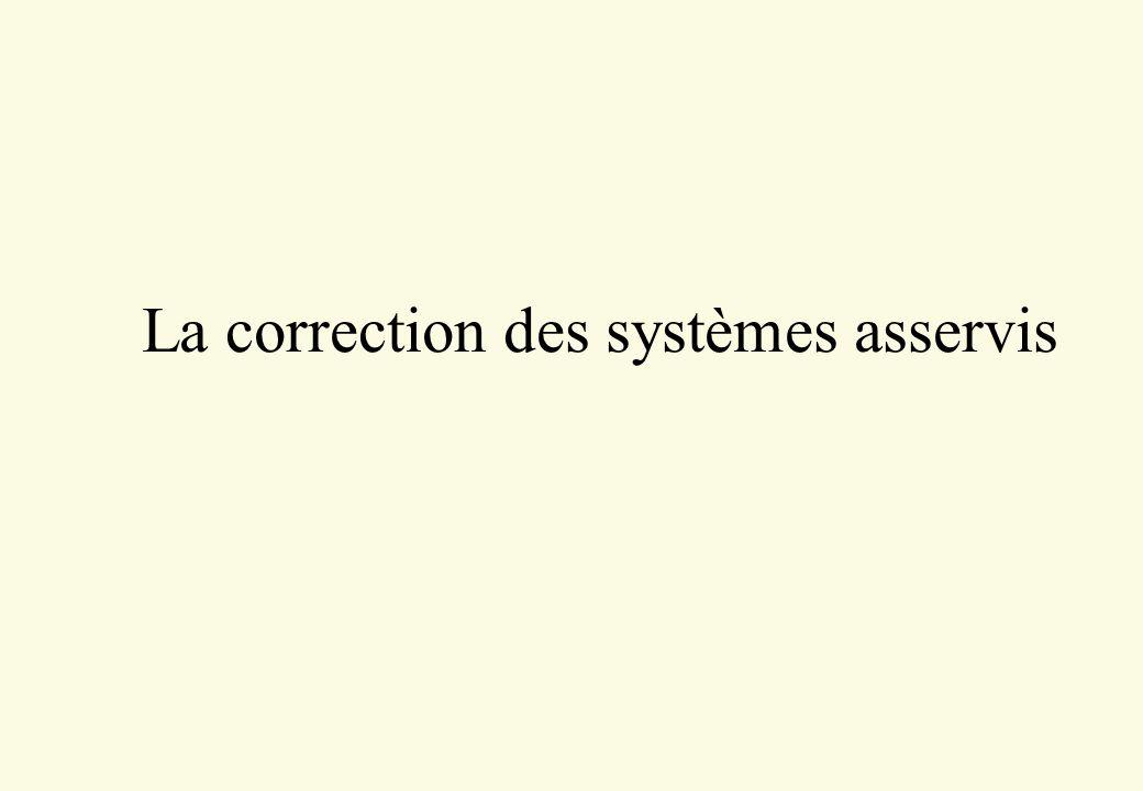 Equation caractéristique 4 Soit un système à retour unitaire : 4 Sa FT en BF vaut : 4 Les zéros de « l équation caractéristique » : correspondent aux pôles de la FT en BF, ils doivent être à partie réelle négative Consigne + - H(p)