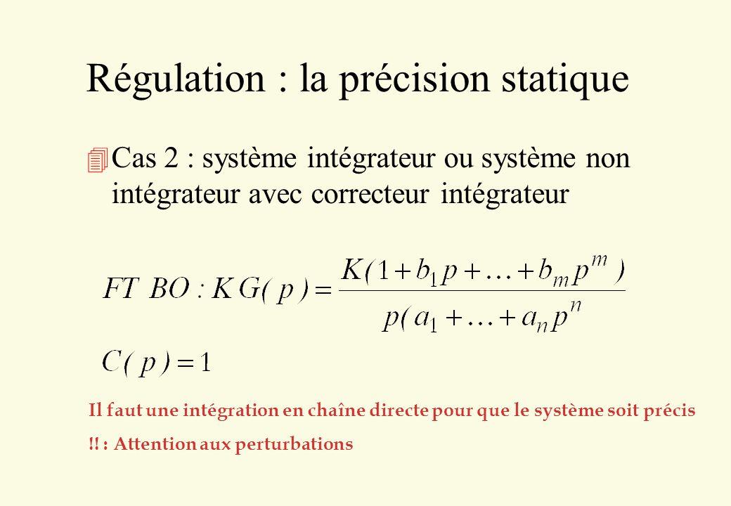 Régulation a priori 4 On utilise la mesure d une perturbation pour essayer de compenser « a priori » son effet sans attendre qu il se manifeste à la sortie 4 Vient en complément d une boucle classique + - C(p) KG(p) H(p) + + perturbation