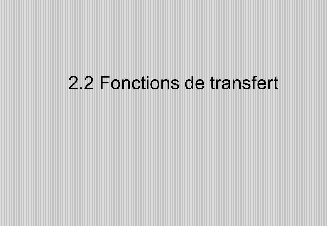2.2 Fonctions de transfert