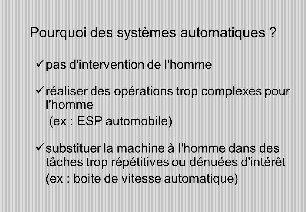 Pourquoi des systèmes automatiques .