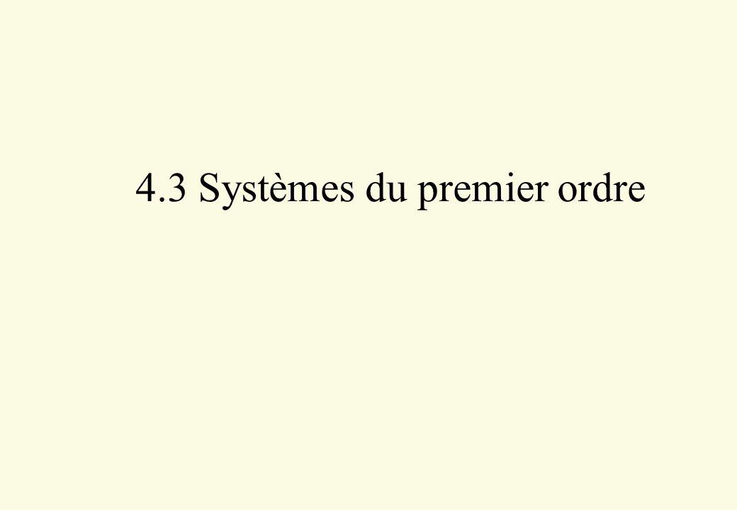 4.3 Systèmes du premier ordre