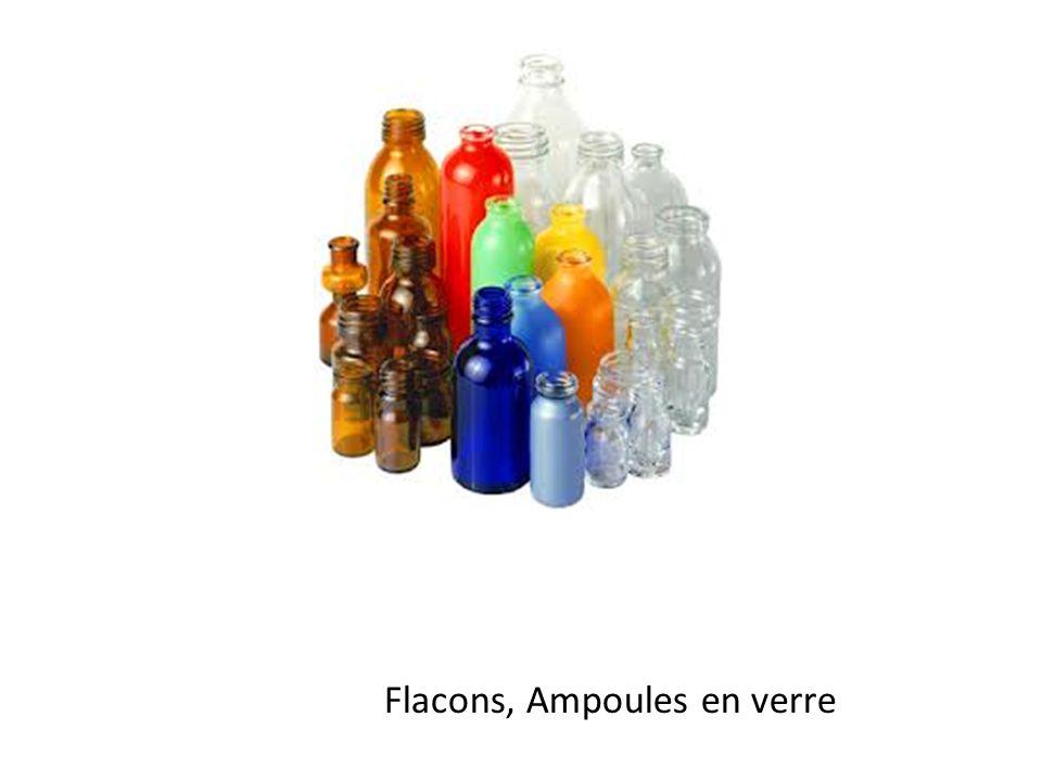 Flacons, Ampoules en verre