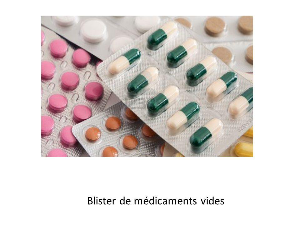 Blister de médicaments vides