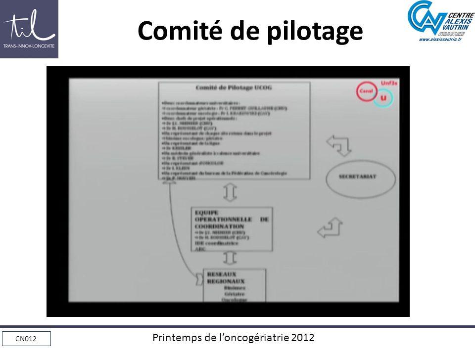 CN012 Printemps de loncogériatrie 2012 Comité de pilotage