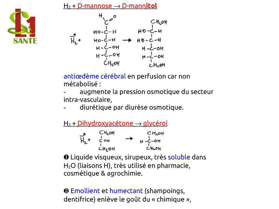 H2 + D- mannos e D- mann itol