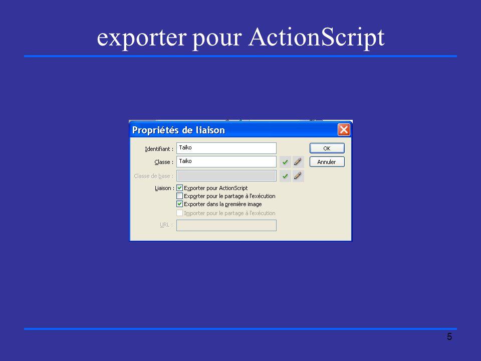 5 exporter pour ActionScript