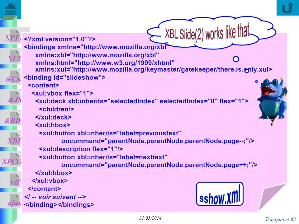 ajax &CSS XUL XPFE &JS &RDF XBL XPCOM rdf Transparent 63 31/05/2014 <bindings xmlns=