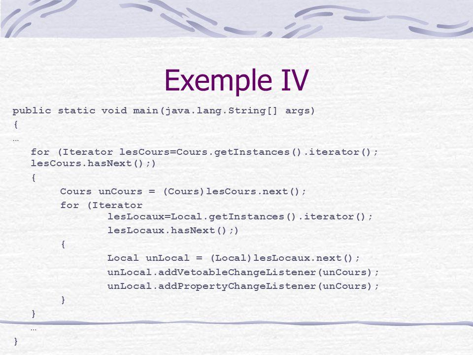 Choix liés à limplementation I Associations sources-observateurs Dans la source Hashtable sources-observateurs Par exemple en Smalltalk dans la classe Object Observation de plus dune source Qui a déclenché la notification .