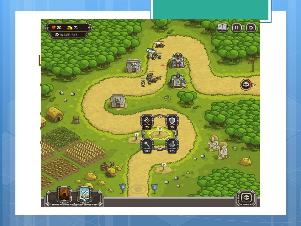 Les inspirations Kingdom Rush Emplacements fixes Chemin fixe Pouvoirs