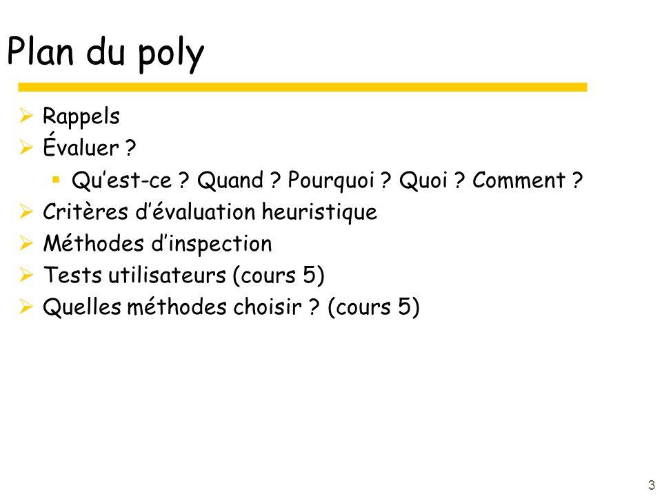 3 Plan du poly Rappels Évaluer .Quest-ce . Quand .