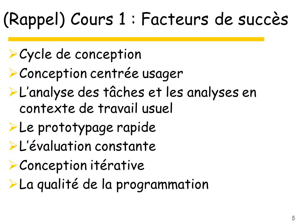 76 Orientation « professionnels » Design Patterns http://www.designofsites.com/pb/register.html http://www.welie.com/patterns/ Brangier E., Barcenilla J., Concevoir un produit facile à utiliser : Adapter les technologies à lhomme, Editions dorganisation, 2003.