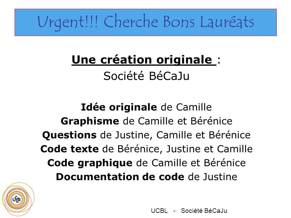 UCBL - Société BéCaJu Urgent!!.