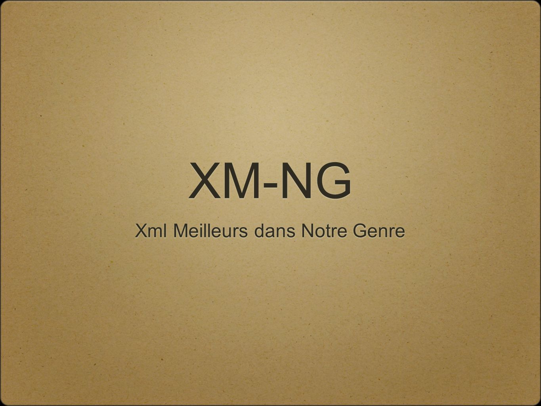 XM-NG Xml Meilleurs dans Notre Genre